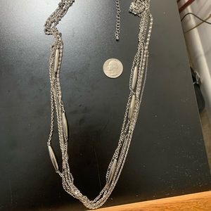 "Jewelry - 30"" Silvertone Necklace"